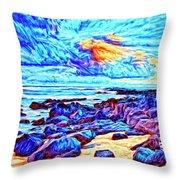 Sunrise Near Poipu Beach Throw Pillow