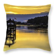 Sunrise Of The Atlantic Icw Throw Pillow