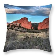 Sunrise Of The Gods Throw Pillow
