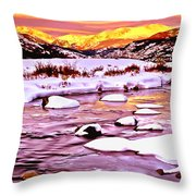 Sunrise On A Cold Day Throw Pillow