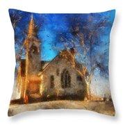 Sunrise On A Rural Church 12 Throw Pillow