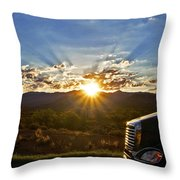Sunrise On A Traffic Jam Throw Pillow