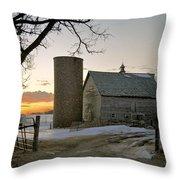 Sunrise On Birch Throw Pillow