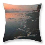 Sunrise On Daytona Throw Pillow