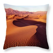 2a6856-sunrise On Death Valley Throw Pillow