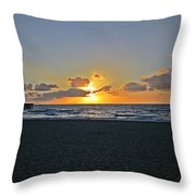 Sunrise On Deerfield Beach Throw Pillow