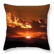 Sunrise On Fire Throw Pillow