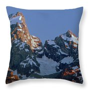 1m9333-h-sunrise On Grand Teton Throw Pillow