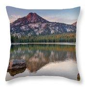 Sunrise On Gunsight Mountain Throw Pillow by Robert Bales
