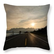 Sunrise On Highway 16 Throw Pillow