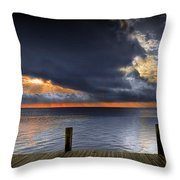 Sunrise On Key Islamorada In The Florida Keys Throw Pillow