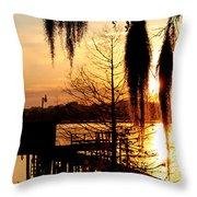 Sunrise On Lake Weir - 7 Throw Pillow