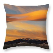 Sunrise On Lenticular Clouds Throw Pillow