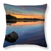 Sunrise On Little River Throw Pillow