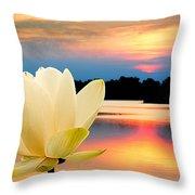 Sunrise On Lotus Lillie Throw Pillow