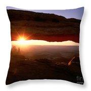 Sunrise On Mesa Arch Throw Pillow