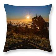 Sunrise On Mount Mitchell Throw Pillow