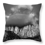 Sunrise On Mount Whitney Eastern Sierras California Throw Pillow