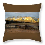 Sunrise On Sawtooth Mountains Idaho Throw Pillow