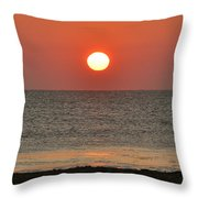 Sunrise On The Atlantic Throw Pillow