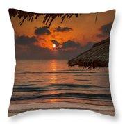 Sunrise On The Beach Throw Pillow