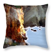 Sunrise On The Cliff Throw Pillow