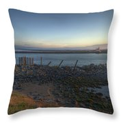 Sunrise On The Coquille River Throw Pillow