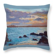 Sunrise On The Grotto Throw Pillow