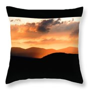 Sunrise On The Hills Throw Pillow