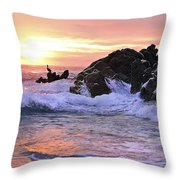 Sunrise On The Horizon Throw Pillow