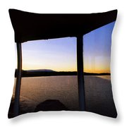 Sunrise On The Hudson Throw Pillow