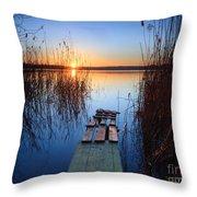 Sunrise On The Lake Throw Pillow
