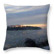 Sunrise On The Missouri River Throw Pillow