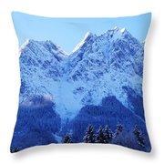 Sunrise On The Alps Throw Pillow