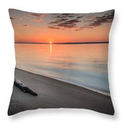 Sunrise On The Potomac Throw Pillow