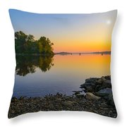 Sunrise On The River Throw Pillow