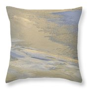 Sunrise On The River Ice #2 Throw Pillow