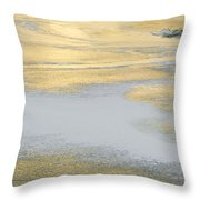 Sunrise On The River Ice Throw Pillow