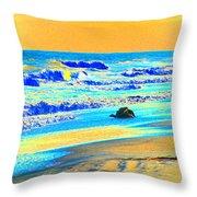 Sunrise On Tybee Island - Photopower 169 Throw Pillow