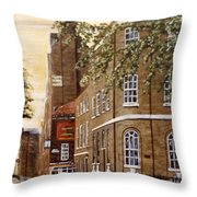 Sunrise On Wapping High Street London Throw Pillow