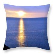 Sunrise On Whitefish Bay Throw Pillow