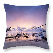 Sunrise Over Blackrock Beach Throw Pillow