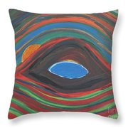 Sunrise Over Blue Ridge Mountain Lake Throw Pillow