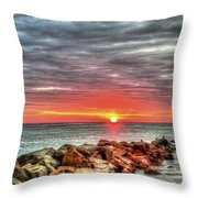 Sunrise Over Breech Inlet On Sullivan's Island Sc Throw Pillow