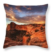 Sunrise Over Canyonlands Throw Pillow by Darren  White