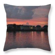 Sunrise Over Cape Fear River Throw Pillow