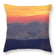 Sunrise Over Clingmans Dome, Great Throw Pillow