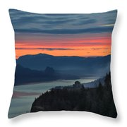 Sunrise Over Crown Point Throw Pillow