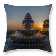 Sunrise Over Downtown Charleston  Throw Pillow
