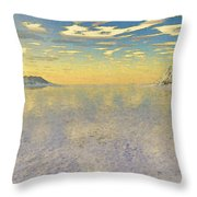 Sunrise Over Glacial Bay Throw Pillow